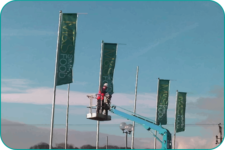 marks and spencer flag installation